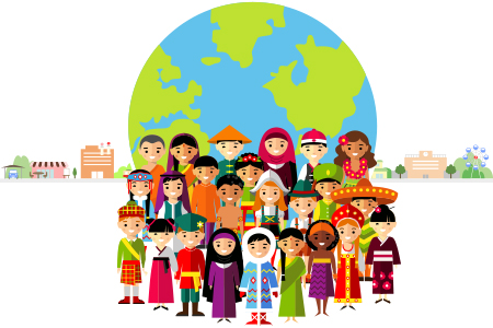 世界の民族衣装と建物